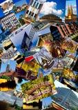 European city collage Stock Photography