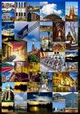 European city collage Stock Image