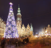 European city of culture 2016, Wroclaw during Christmas season Royalty Free Stock Photo