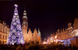 European city of culture 2016, Wroclaw during Christmas season Royalty Free Stock Images