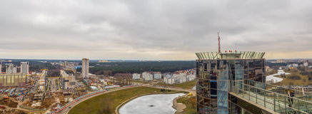 European City Minsk Aerial View Stock Photo