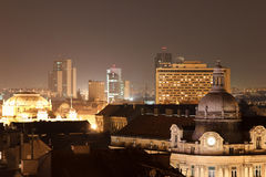 European city at night Royalty Free Stock Photography