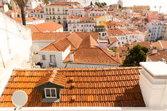 European city roofs Stock Image