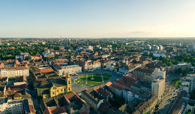 European city skyline. Seen by a professional drone Stock Photos