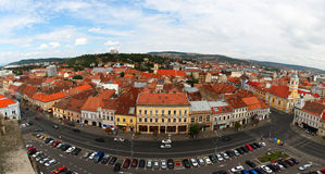 European city view. Panoramic aerial view of Cluj-Napoca city Romania, an european city Royalty Free Stock Photography