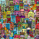 European cityscape, seamless pattern for your design Stock Image