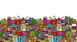 European cityscape, seamless pattern for your design Stock Photography