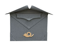 European classic mailbox cutout Stock Photography
