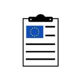 European clipboard icon Stock Image