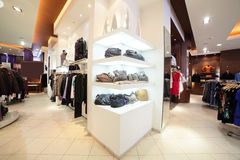 European clothing store with huge collection Royalty Free Stock Photo