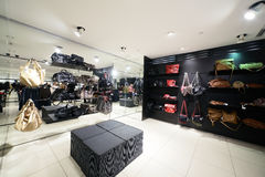 European clothing store with huge collection Stock Photography