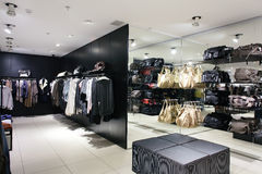 European clothing store with huge collection Stock Images