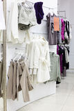 European clothing store with huge collection Royalty Free Stock Photos