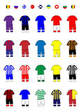 European Clubs Jerseys Football Kits B Stock Photos