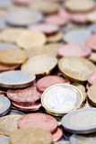 European coins Royalty Free Stock Images