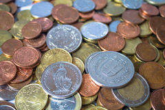 European coins Stock Image
