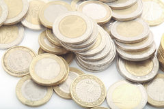 European coins Royalty Free Stock Photos