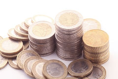 European coins Royalty Free Stock Photo