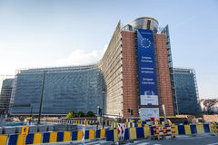 European Comission Building in Brussels Royalty Free Stock Photography