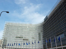 European Commission in Brussels Stock Photos
