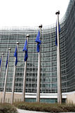 European commission with European flags Royalty Free Stock Photos