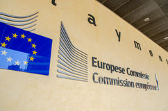 European Commission headquarter (Berlaymont building) in Brussel Stock Photography