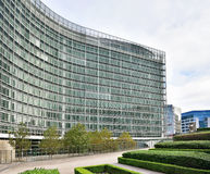 European Commission headquarter in Brussels. BRUSSELS, BELGIUM-OCTOBER 23, 2014: Modern building of the European Commission headquarter in Brussels Stock Photography