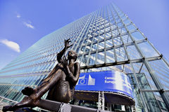 European Commission Headquarters statues Stock Image