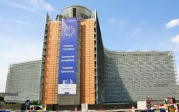 European Commission main building Royalty Free Stock Image