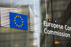 European commission official entry Stock Images