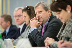 European Commissioner Johannes Hahn Stock Photography