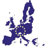 European community. Map Stock Images
