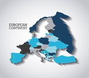 European  continent  design. Illustration eps10 graphic Stock Photography