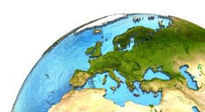 European continent on Earth Stock Photos