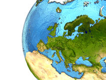 European continent on Earth Royalty Free Stock Photo