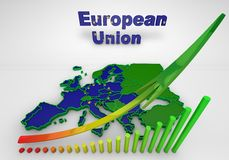 European countries 3d illustration. Map of European countries business 3d illustration Stock Photography