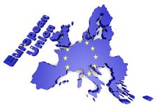 European countries 3d illustration Royalty Free Stock Photo