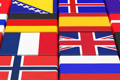 European countries Royalty Free Stock Photography