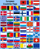European Countries Flags Royalty Free Stock Photography
