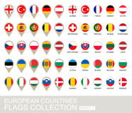 European Countries Flags Collection Stock Photos