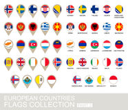European Countries Flags Collection Royalty Free Stock Photo