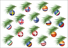 European countries flags spheres Royalty Free Stock Photo