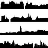 European countries, the most famous buildings Stock Photography