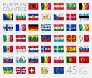European Country Flags Stock Photos