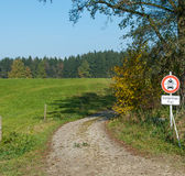 European Country Pathway Royalty Free Stock Photography