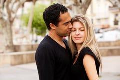 European Couple Hug stock images