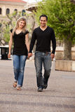 European Couple Walk Stock Photos