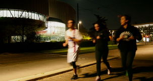 European Court of Human Rights - ECHR  - with runners  passing stock video