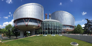European Court of Human Rights - Strasbourg - France. European Court of Human Rights - Strasbourg, France. An international court established by the European royalty free stock photos