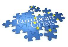 European crisis puzzle Stock Images
